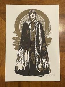 Tyler Stout - House Atreides Art Poster Print Handbill Mondo Dune Lynch signed