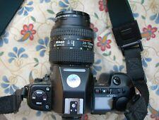 MACCHINA FOTOGRAFICA ANALOGICA NIKON F801S + OBIETTIVO 28/70MM + BORSA + FILTRI