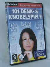 PC CD ROM 101 Denk & Knobelspiele Gehirnjogging für Jung und Alt,neuwertig