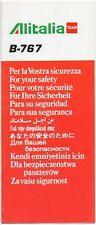 Safety Card - Alitalia TEAM - Boeing 767 -- REV: 09/96