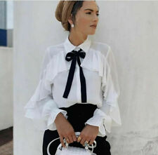 NEW ZARA RUFFLE BLOUSE, SHIRT, TOP, CELEBRITY, SOLD OUT, SIZE SMALL
