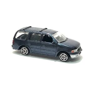 """1999 Ford Expedition Blue 6021 Motor Max 1:64 3"""" inch Toy Car"""