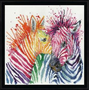 Design Works ~ Counted Cross Stitch Kit ~ Colourful Zebras ~ DW-3266