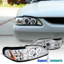 For 1994-1998 Ford Mustang LED Dual Halo Projector Headlights