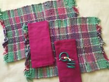 New listing 2 Placemats, 2 Crate & Barrel Napkins, 2 Napkin Rings