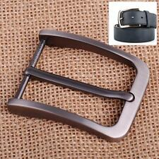 Rectangular Alloy Pin Single Clip Buckle for Men Leather Belt Spare Replacement