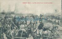WW1 Battle of Yser 1914 Belgian Horse Artillery  battle scene ,Unposted