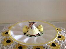 Vintage Egg Plate, Japan, Chickens Salt & Pepper
