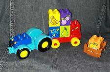 Lego Duplo tracteur + accessoires en TBE