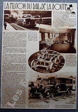 Document Photo Railroute Dunlop Automotrice Autorail Renault Bugatti     1933