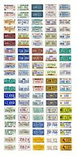 1/25 scale model car assorted USA 1980s license plates state tags 1:25