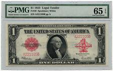1923 $1 United States Legal Tender Note PMG Gem UNC 65 EPQ Fr #40