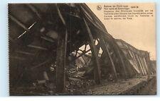 *Zeebrugge Belgium The Ruins German Warehouse Burnt Tommies Fleas Postcard B93