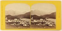 Engadine Lake Suisse Foto PL27L1n Stereo A. Braun Vintage Albumina c1865