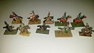 Vintage Lead Toy Soldiers Tin Metal Lot (10) Horse Handmade