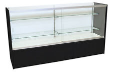 """Front Opening Loading Display Showcase Store Fixture Black 48"""" Assembled New"""