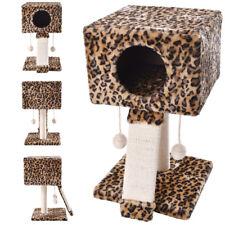 Cat Tree Post Scratcher Furniture Play House Pet Bed Kitten Toy Leopard