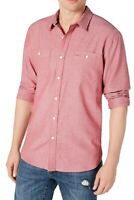 American Rag Mens Shirt Red Size 2XL Micro Herringbone Woven Button Down $45 008