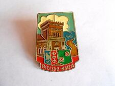 Vintage Bielsko-Biała Poland Metal Screwback Souvenir Pin