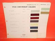 1950 CHEVROLET SPECIAL DELUXE FLEETLINE STYLELINE CONVERTIBLE BELAIR PAINT CHIPS