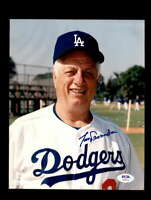 Tommy Lasorda PSA DNA Coa Hand Signed 8x10 Photo Autograph