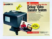 Ambico Deluxe Video Transfer System V-0650 Film Slides Photos Home Movies New