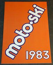 1983 MOTO-SKI SNOWMOBILE SALES BROCHURE NICE  12 PAGES  (115)