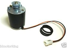 1/8HP Motor 2000RPM  12V PMDC Rotation CW + HTD 5mm Pitch Pulley and Belt