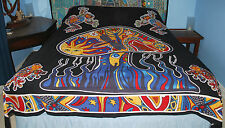New Mushroom Double Bedspread Throw - Hippy Fairly Traded Ethnic Frog Psy Trance