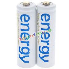 2x AAA 3A 2000mAh 1,2V NI-MH ENERGIA ricaricabile batteria
