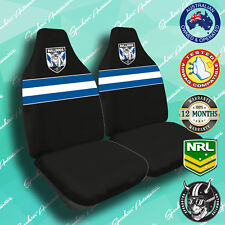 CANTERBURY BULLDOGS FRONT CAR SEAT COVER OFFICIAL NRL AIRBAG COMPATIBLE