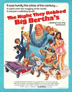 The Night They Robbed Big Bertha's (1975) pressbook - free shipping