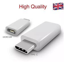 Type-C Male 3.1 to Micro USB Female Converter USB-C Adapter - White