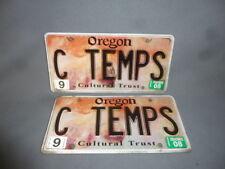 Pair OREGON License Plates Custom CAR TRUCK OR HOT ROD RAT ROD C TEMPS