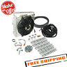 BD Diesel 1030606-DS-12 Xtruded Double-Stacked Auxiliary Transmission Cooler Kit
