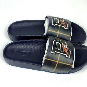 Polo Ralph Lauren Men's Cayson Sport Tiger Slide Sandal 7 Navy Green Tartan New