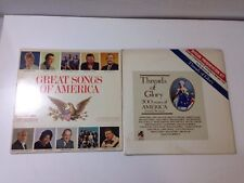 Lot of 2 - Songs of America - Greatest Songs, Songs of Glory (Vinyl Record, 33)