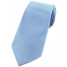 CRAVATE pour homme 8 cm Bleu ciel satin et Lurex - Sky blue Necktie cravatte