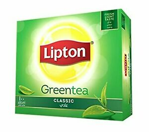 Lipton Green Tea Classic - 100 Tea Bags - 150 Grams (100 * 1.5Grams) Free Ship