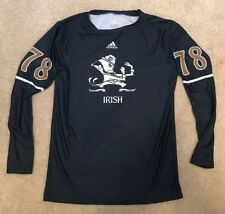 ADIDAS 2012 TEAM ISSUED NOTRE DAME FOOTBALL SHAMROCK SERIES UNDERSHIRT #78