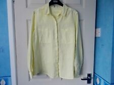 MARKS & SPENCER YELLOW LINEN SHIRT SIZE 12 NEW WITHOUT TAGS !!