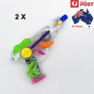 2 x Electric Toy Gun Light Sound Music Kids Boys Toys Plastic Battery Operated