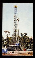 "QSL ""HCJB"" Radio Quito ""Drilling in Eastern Jungle"" Card Shortwave DX SWL 1973"