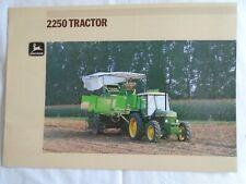 John Deere 2250 Tractor brochure undated English text ref 7-1894056