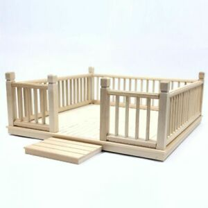 1/12 Streets Ahead Dolls House Flat Pack Wooden Garden Decking Set DH524