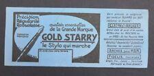 BUVARD Stylo plume GOLD STARY Arches Fidelis nibs box Blotter Löscher