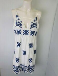 Kookai Blue White  Cotton Dress Sz EU 34