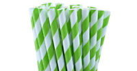 100 Biodegradable Paper Drinking Straws Green Strong 3 ply Cafe Take Away Kids