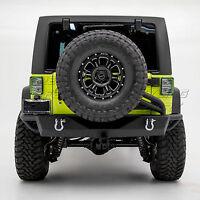 Rear Bumper+Tire Carrier Tailgate Linkage+2x LED Mount for 07-18 JK Wrangler