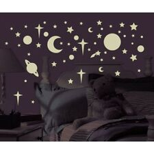 CELESTIAL 258 GLOW in the DARK Wall Decal STARS PLANETS Room Decor Stickers MOON